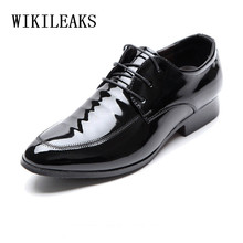 mens oxfords patent leather shoes for men derbies formal wedding pointed toe dress oxford chaussure derby homme