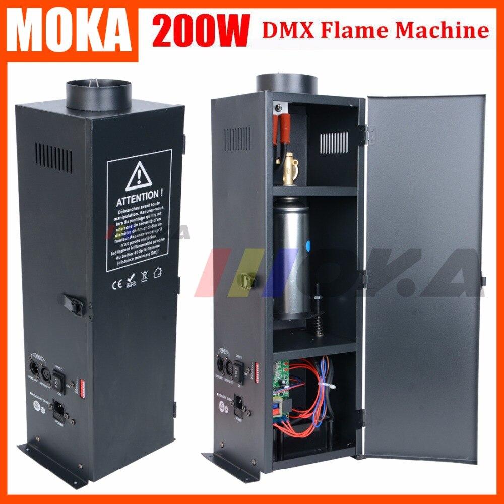 2 pièces Flamme Machine 3m Hauteur De Flamme Colorée Contrôleur D'effets D'étape de DMX Effet Feu Machine