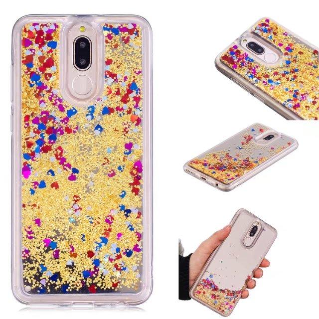 For Huawei Nova 2i Case Hard Liquid Quicksand Bling Glitter Transparent Protective Back Cover For Huawei Mate 10 Lite Nova2i