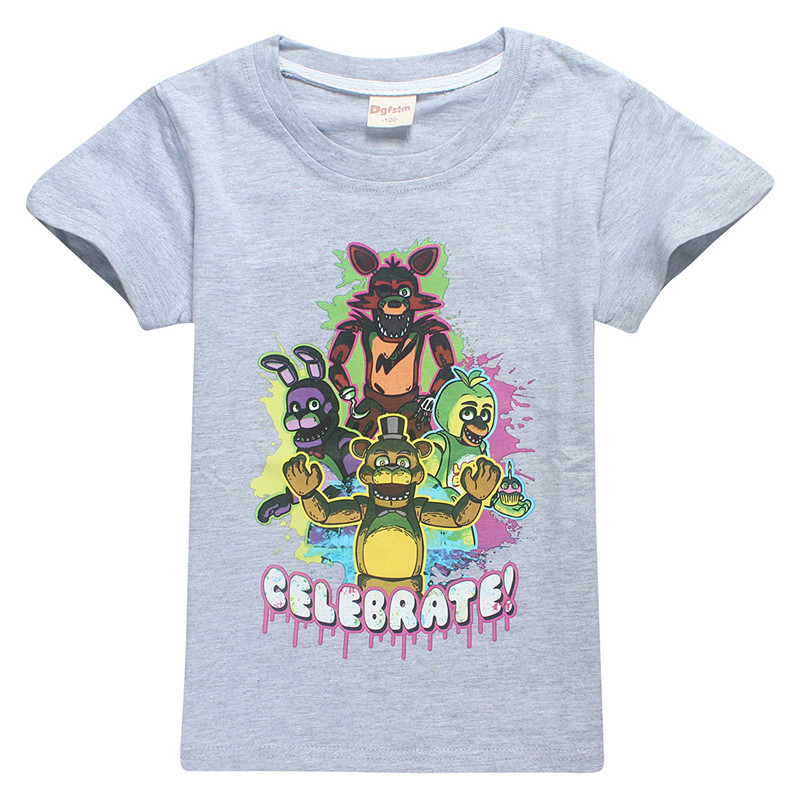 T-shirt for large children summer short sleeve 100% cotton high quality T-shirts big girls boys cartoon tshirt top tee 6-14Y