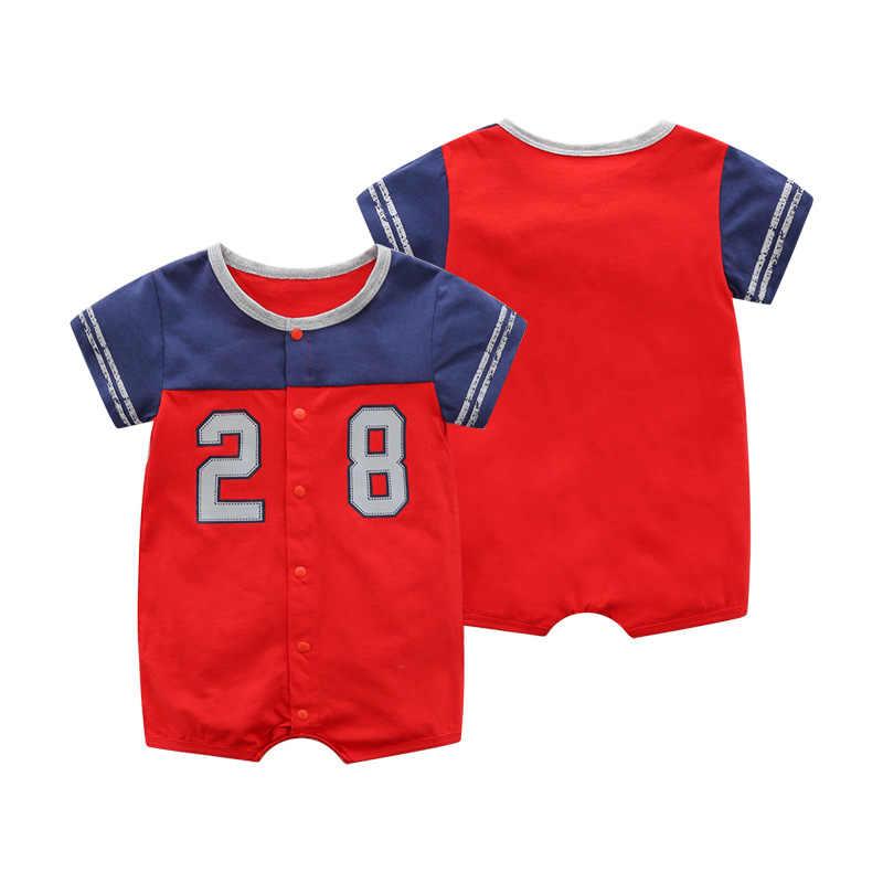 2019 детские комбинезоны высокого качества, хлопковая одежда для маленьких мальчиков, одежда для новорожденных с рисунком, Roupas Bebe, детские комбинезоны