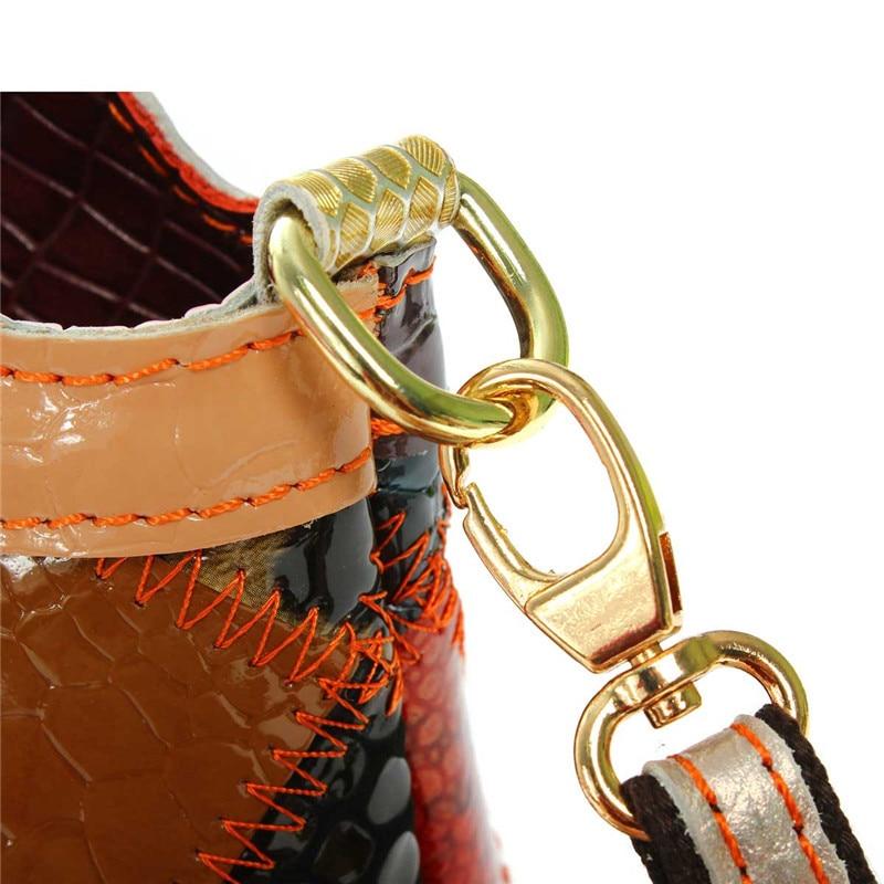 aequeen mulheres crossbody homensageiro sacolas Bag Estilo 2 : Patchwork Women Leather Handbags Ladies Bag