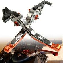 CNC Aluminum Motorcycle Adjustable Folding Brake Clutch Lever For KTM RC8 RC8R 2009-2016 2010 2011 2012 2013 2014 2015 RC 8R 8 R cnc aluminum motorbike motorcycle brake clutch levers foldable extendable for ktm rc8 rc8r rc 8 rc 8r rc 8 8r 2009 2016