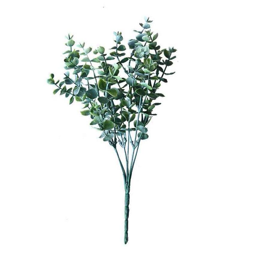 33cm Eucalyptus bouquet tree branches Artificial leaves home decoration DIY Flower arrangment plant Faux foliage wreath ju14|Artificial Plants|   - AliExpress