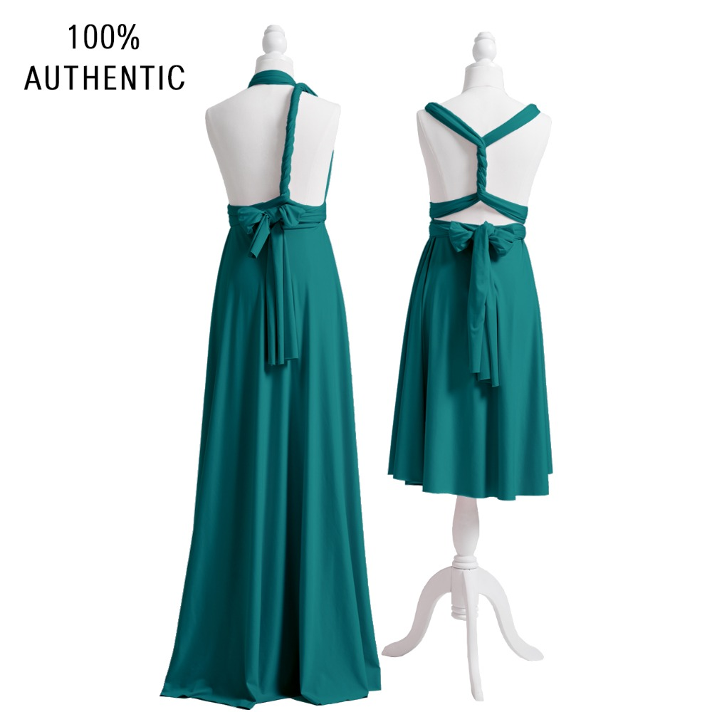 Teal Bridesmaid Dress Long Multiway Dress Infinity Plus Wrap Dress  Convertibel Floor Length Maxi Dress With One Shoulder Styles  058635860e08