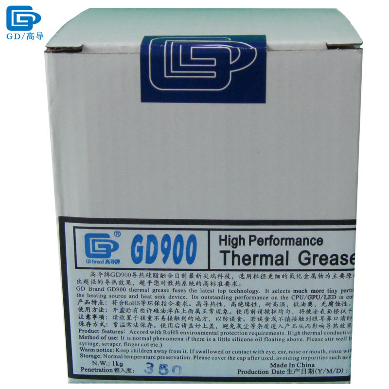 GD900 Thermal Conductive Grease Paste Silicone Plaster Heat Sink Compound Net Weight 1000 Grams High Performance For LED CN1000 injector style thermal conductive grease with silver paste 5ml