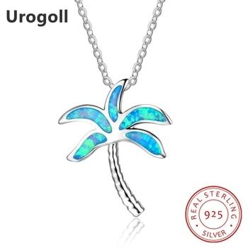 4e465027d076 Moda genuino 925 plata esterlina fina joyería Opal árbol de coco collares  para las mujeres aniversario plata 925 regalos de joyería
