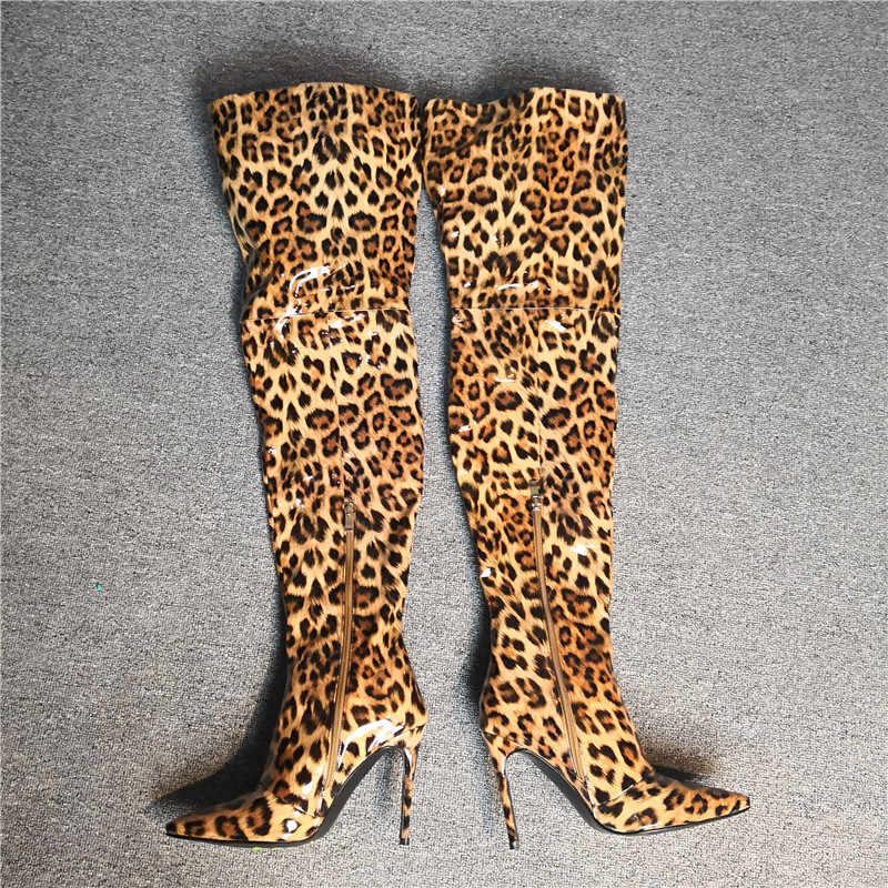 Asumer plus tamanho 35-47 moda sobre o joelho botas apontadas dedo do pé zip super sapatos de salto alto elegante sexy promthigh botas femininas