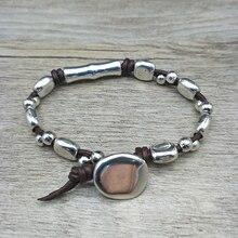 Youga Vintage Alloy Leather Braided Bracelet Brand New Design Unisex Friendship Bracelets lovers jewelry Valentines Day