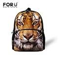Pequeñas Bolsas Escolares para Niños Fresco 3D Animal Tiger Leopard Pint Girls Schoolbag Niños Mochila Preescolar Niños Bolsa de jardín de Infantes