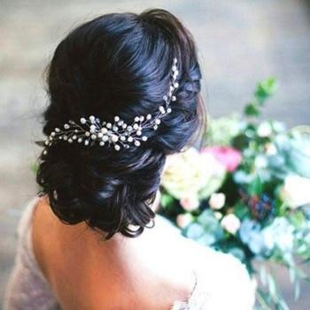 Exquisite handmade bride pearl hair comb8