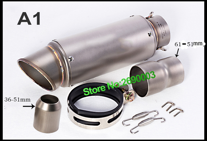 Motorcycle Exhaust Muffler for SC Exhaust Pipe With laser Marking For large Displacement Motorcycle with Full Accessories motorcycle exhaust muffler for sc exhaust pipe with laser marking for large displacement motorcycle with full accessories