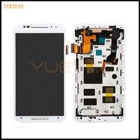 YUEYAO For Motorola Moto X2 Xt1092 Xt1095 Xt1097 LCD Display Touch Screen With Digitizer Bezel Frame