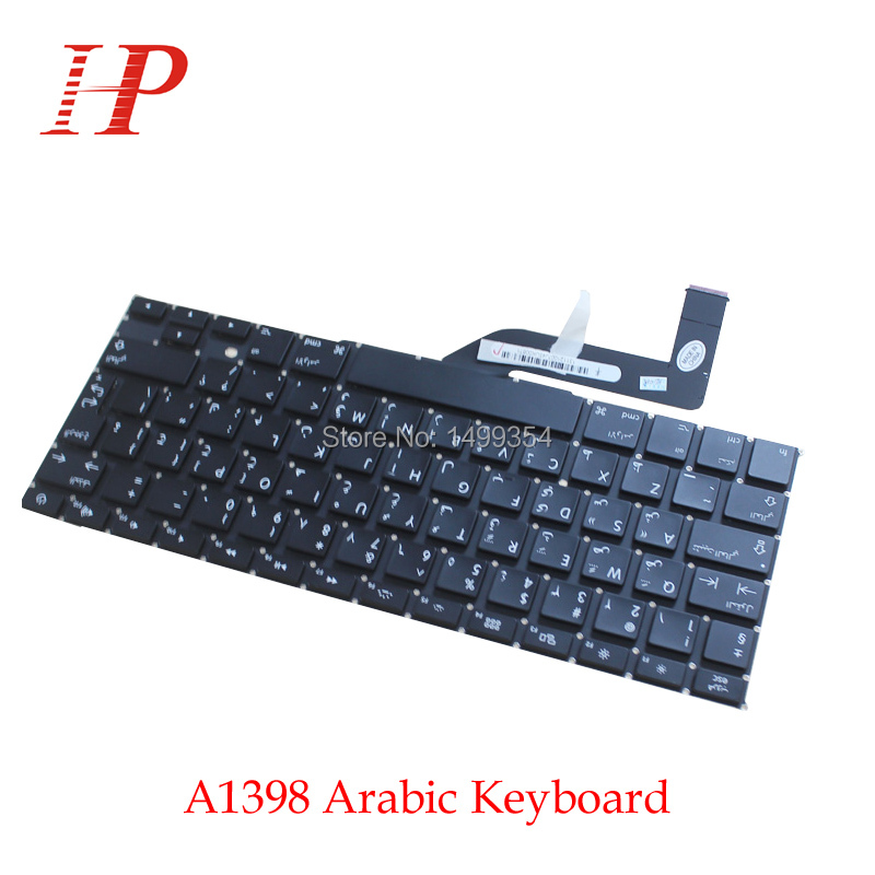 5PCS New A1398 Arabic AR Keyboard For Apple Macbook Pro 15 Retina A1398 Keyboard Arabic Standard Replacement 2012-2015