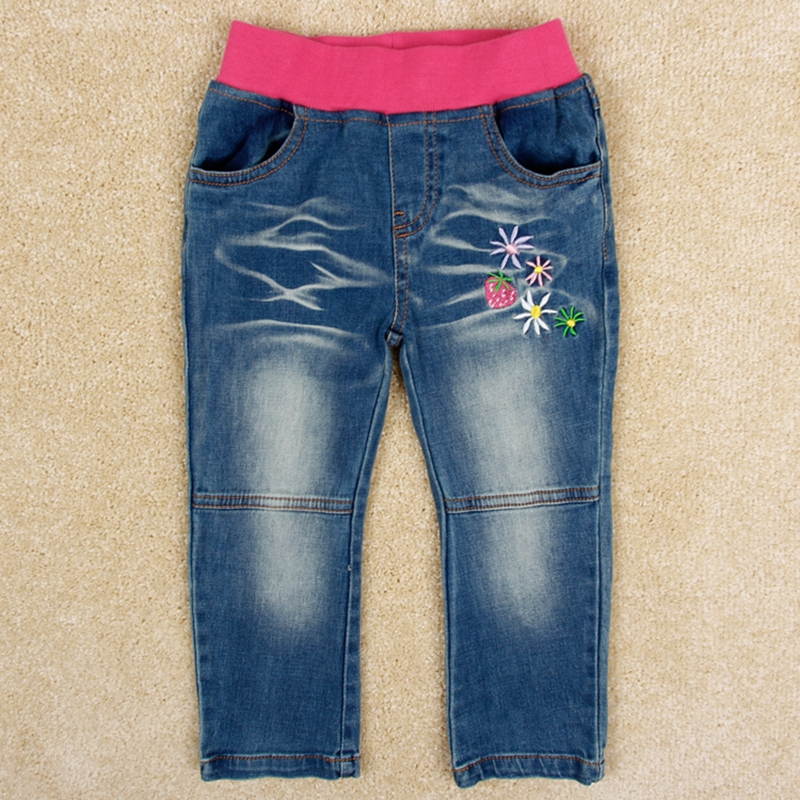 Girls pants baby jeans girls clothes children cotton cashmere trousers nova kids clothing girls jeans winter