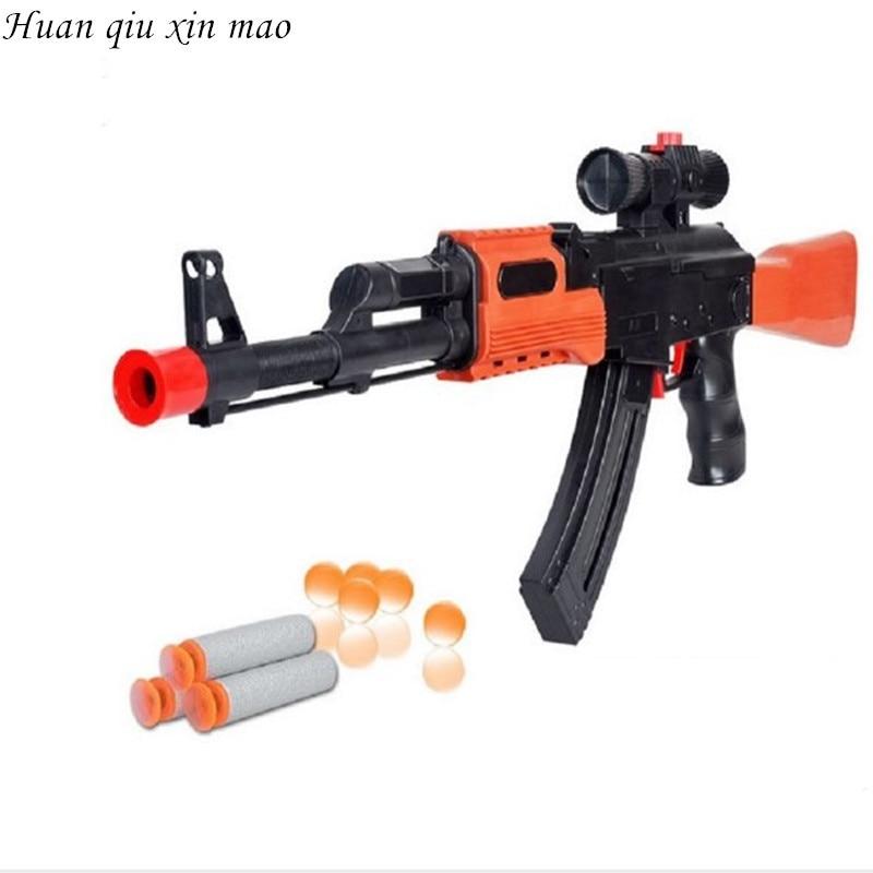 Huan qiu xin mao 2017 Hot Sell AK47 cs game toys Plastic Toy Gun Water bullet