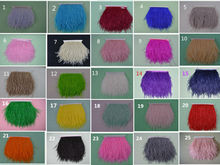 Wholesale, 10 meters long 4 - 6 inches 10-15cm natural ostrich feathers, feather edge ribbon trim free shipping