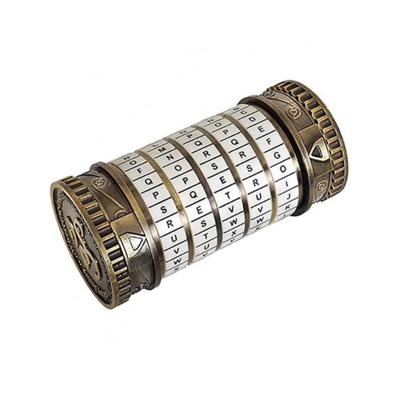 Da Vinci Code serrure éducatifs Puzzle jouets Cryptex serrures lettre mot de passe évasion chambre accessoires Mini jouet pour saint valentin cadeau - 2