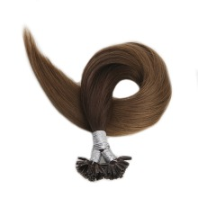 Pre Bonded U Tip Hair Extensions Color#3 Fading To 6 Balayage 1g/Strand 50g 100%Remy Human Hair Extensions U Tip Hair