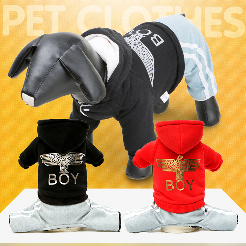 Pet Products, Autumn and Winter, New Pet Clothing, Japanese Fleece Sweater, Thickened Dog Clothing French Bulldog Puppy Clothes