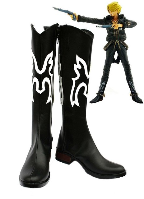 One Piece Anime Vinsmoke Sanji Cosplay Shoes Boots Custom Made