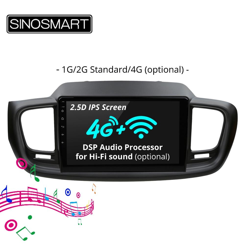 SINOSMART 2 5D IPS Screen 4 8 Core CPU 2G 4G RAM Android 8 1 Car