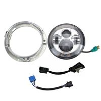 7 Motorcycle 40w Headlight LED W Chrome Mounting Bracket For Harley Davidson Electra Glide Softail Street