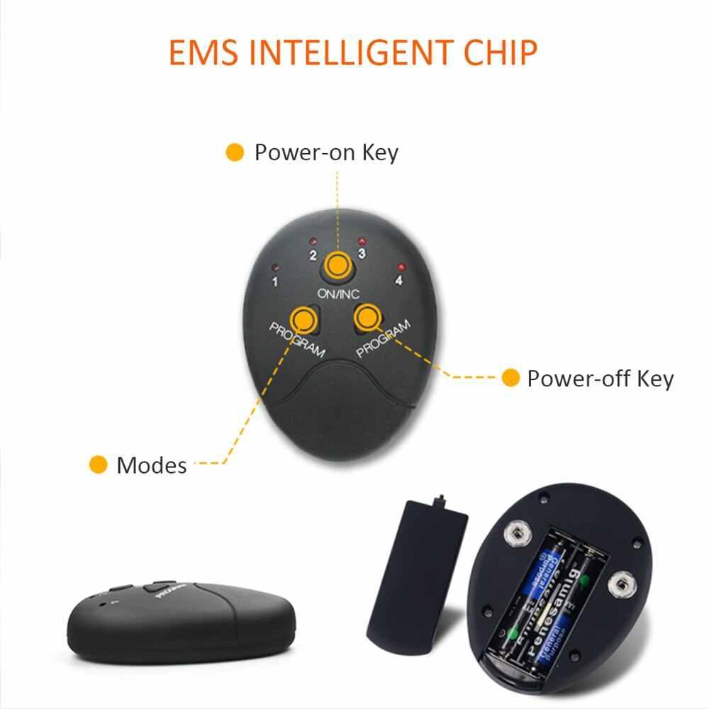 ฟิตเนสกระตุ้นกล้ามเนื้อท้องเครื่องมือ Slimming ลดน้ำหนักการออกกำลังกาย EMS ไฟฟ้ากล้ามเนื้อการฝึกอบรม GYM สมาร์ทกระตุ้นกล้ามเนื้อ