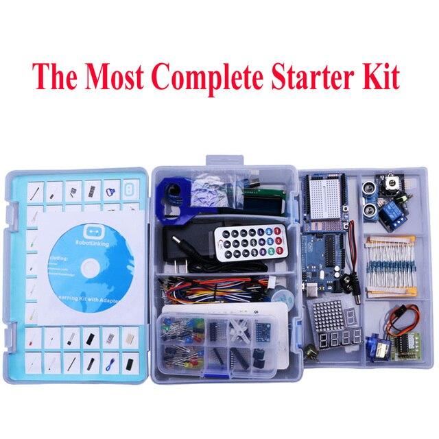 Elego Projeto O Mais Completo Starter Kit DIY para Arduino UNO UNO Mega2560 Nano com Tutorial/fonte de Alimentação/Motor de Passo