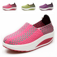 Weave Slimming Shoes Women Walking Running Shoes Women Fitness Lady Swing Shoes Summer Factory Whose Top