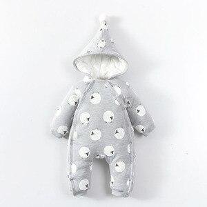 Детский комбинезон для новорожденных, осенне-зимний хлопковый комбинезон с длинными рукавами для мальчиков и девочек