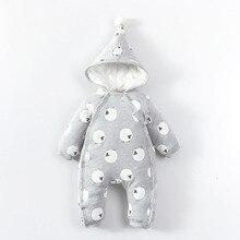 Barboteuse pour bébés garçons et filles  Combinaison en coton et à la mode, manches longues, combinaison pour nourrissons, pour lautomne et lhiver