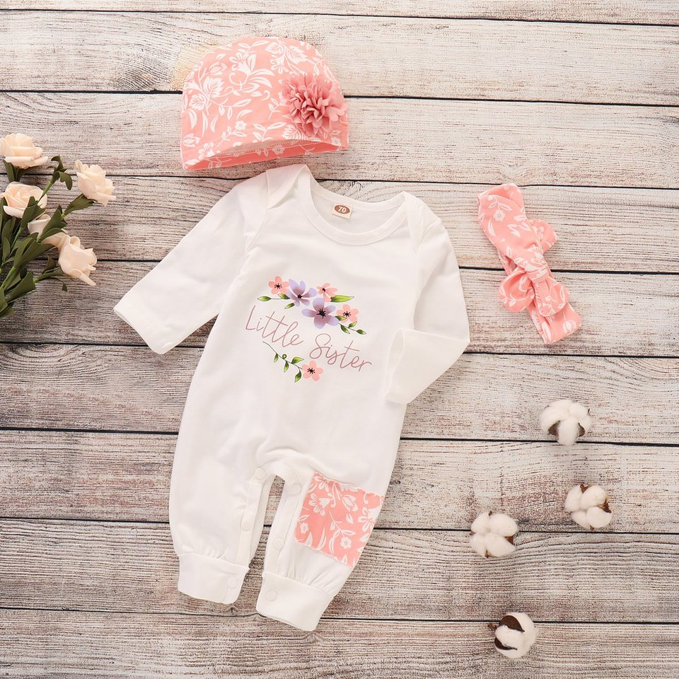 Baby Girl Hoody Set Long Sleeve Hoodie You are My Universe Sweatshirt Pant with Headband Outfit Suit