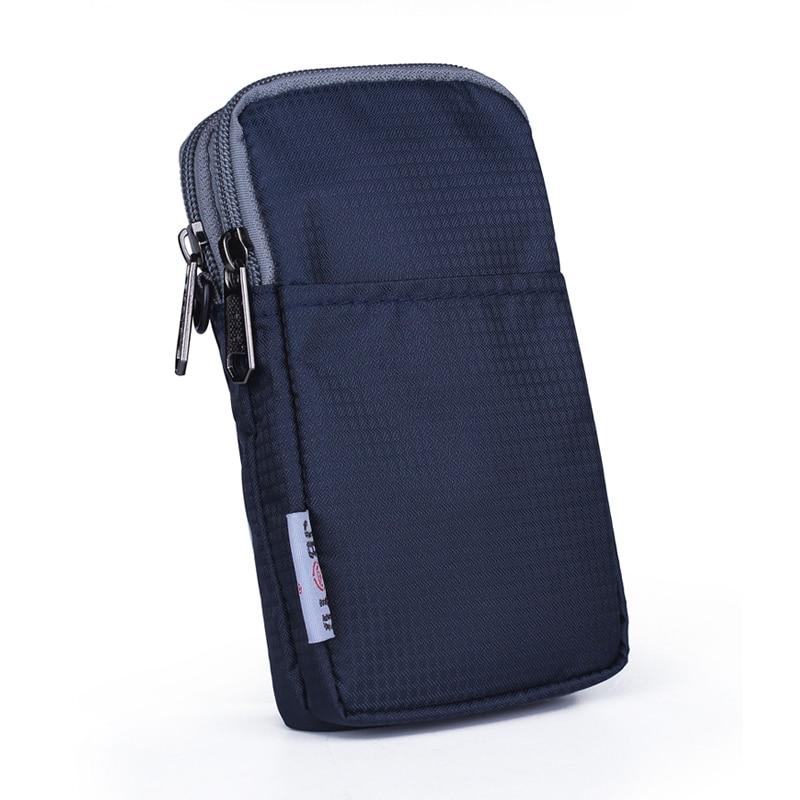 Men Women Nylon Cell Phone Bags Belt Waist Pack Hook Multi-functional Motorcycle Riding Unisex Small Shoulder Messenger Bags