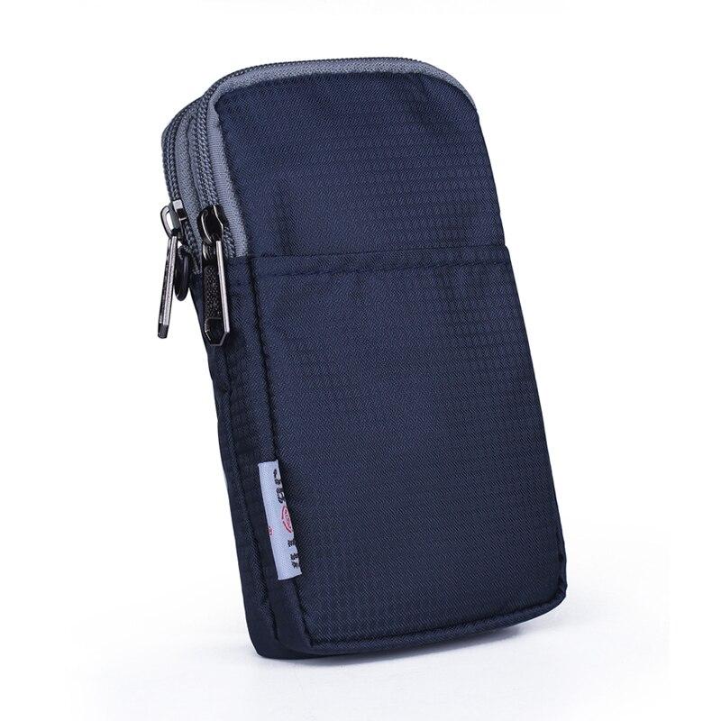 Men Women Nylon Mobile Cell Phone Case Cover Skin Bags Belt Waist Pack Hook Unisex Small Shoulder Messenger Fanny Bags