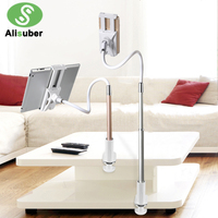 Alisuber Flexible 100cm Long Arm Lazy Mount Bracket Stand Desk Bed 360 Degree Rotate Mobile Phone