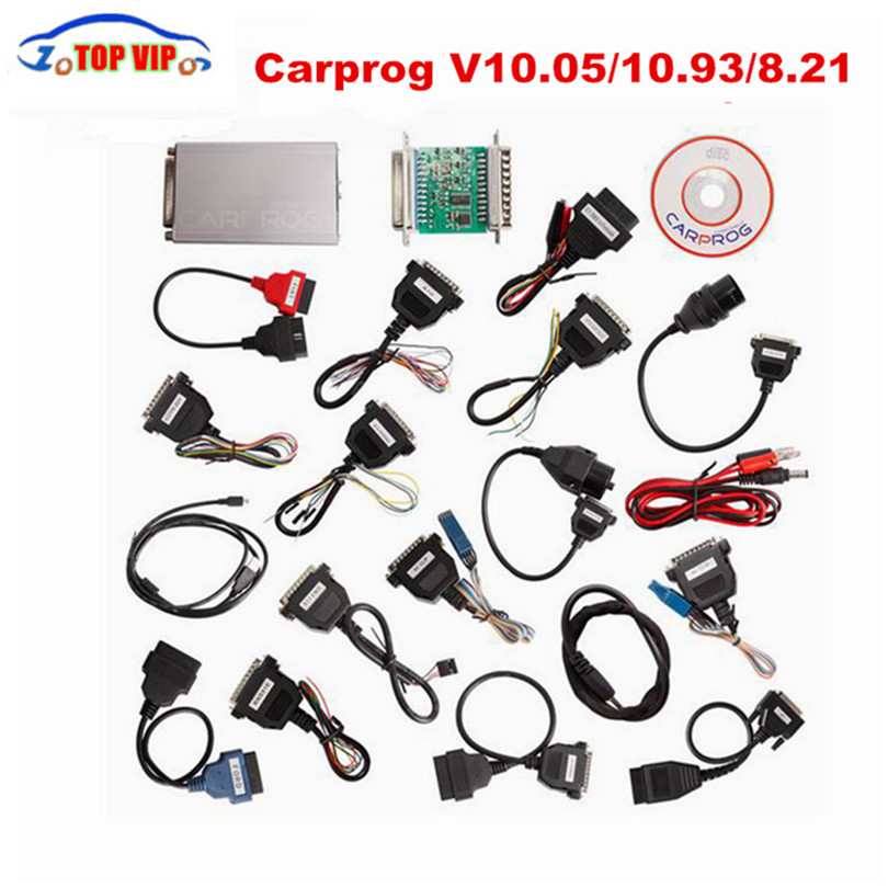 2018 Best Price Carprog Full V10.05/10.93 Auto Repair (radios,odometers, dashboards, immobilizers) ECU Chip Tunning Car Prog New free shipping carprog 9 31 ecu chip tunning car prog v9 31 carprog full newest version with all 21 items adapters