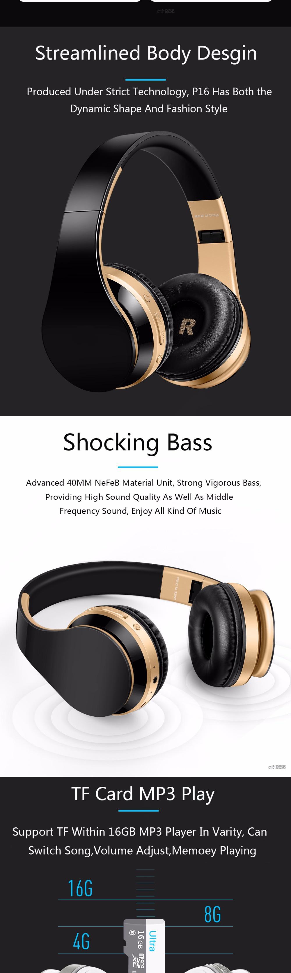 6d1ec1231cd Bluetooth Headphones Wireless Earphones Stereo Bass Headset Earbuds  Foldable Sport Earphone With Microphone MP3 Player. 1 2 3 ...