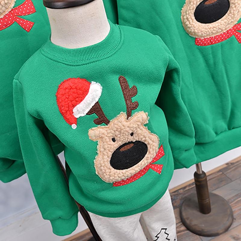 Sueter De Navidad Camisa Familia Ropa Reno Arbol Ciervo Ano Nuevo