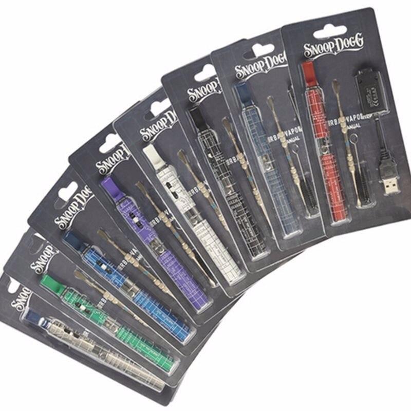 bilder für Heißer verkauf 5 teile/los billig elektronische zigarette kit Snoop Dogg trockenen Kraut kräuter vape wachs vaporizer Gpen blisterpackung fall wachs
