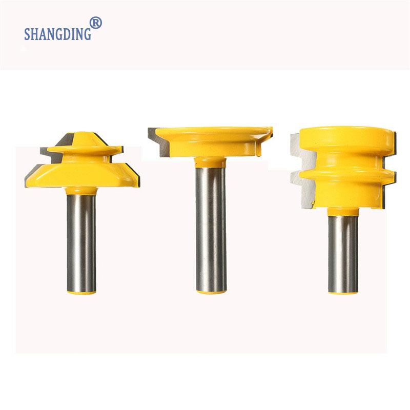 Best Price 3Pcs Jointing Router Bit Set -Lock Miter Glue Joint Drawer Front Yellow YG6X Native Alloy Durable Quality nema43 best price 6 0a 12nm 115mm