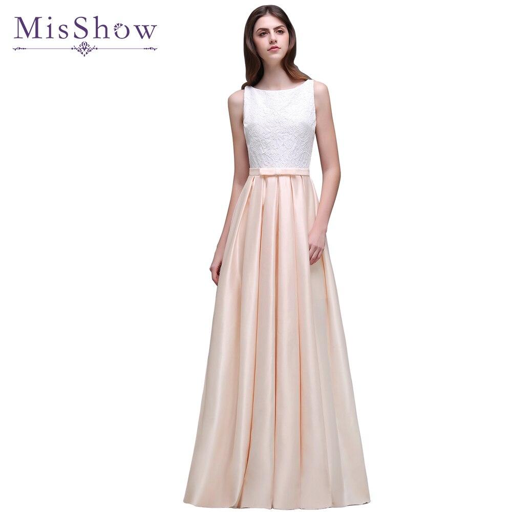 Final Promotion! Lace Satin Long   Evening     Dresses   A-Line 2019 Elegant Pink Cheap   Evening   Party   Dress   Formal Gowns robe de soiree