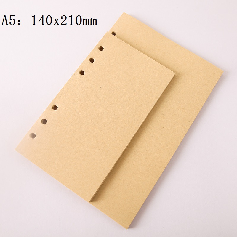 Blank Craft 6 Holes A5 A6 Loose Leaf Notebook Refill Pages Diary Diy Inner Sheets, Filofax Diary Planner Filler Papers