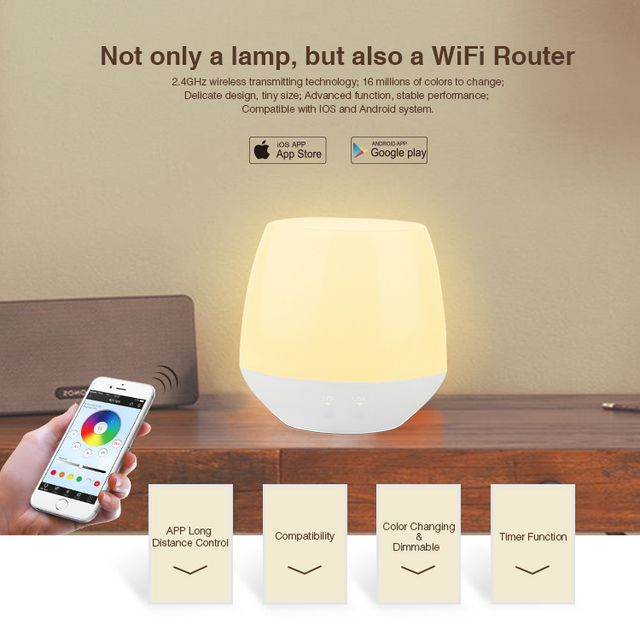 MiLight Wifi ibox 2.4G Wireless LED RF Dimmable Remote APP iOS Android for RGBW/RGB W/WW
