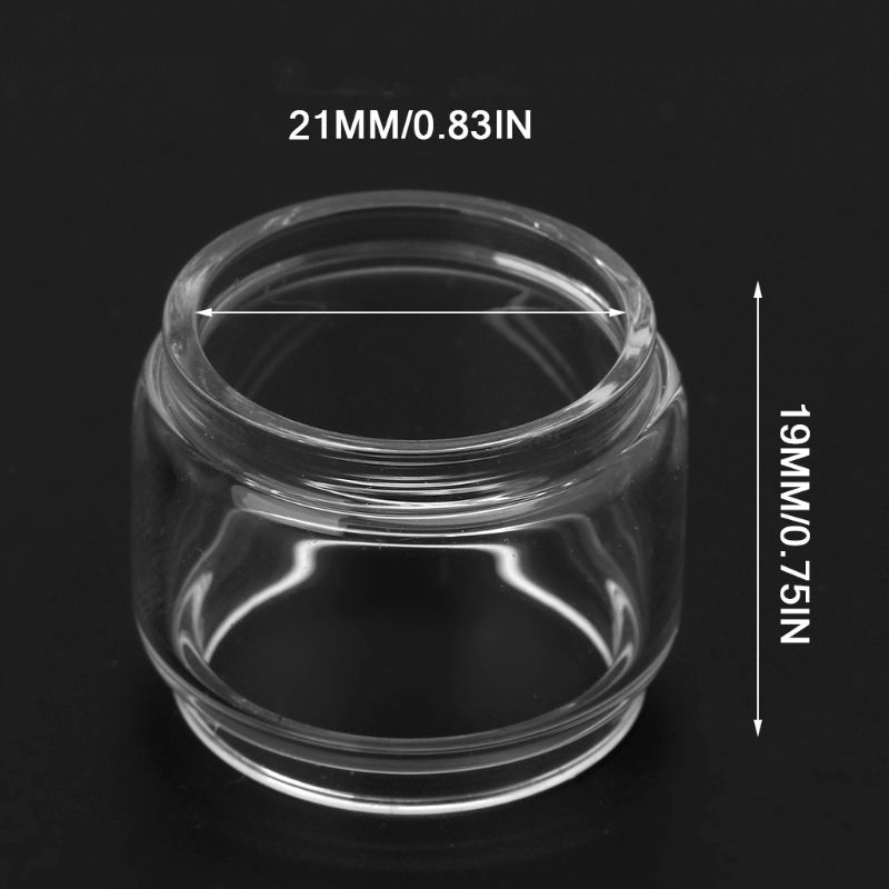 Transparent Vape Glass Tube Glass Tank Electronic Cigarette Accessories For Vape Pen 22 Vaporizer Atomizer