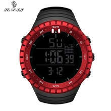 Watches Sport Digital Military Watch for Male with Silicone Strap LED Clock Electronic