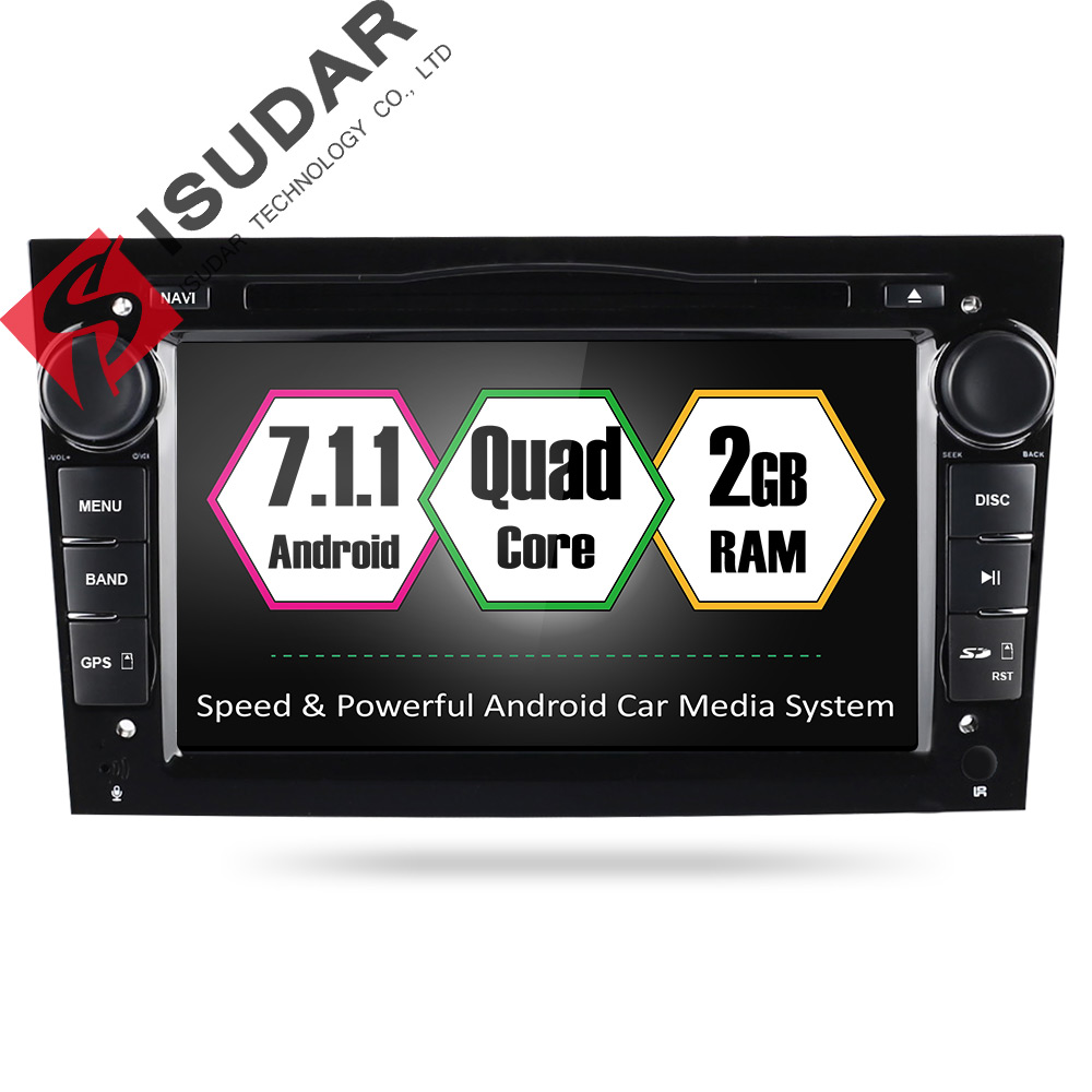 Isudar Two Din Car Multimedia player Android 7.1.1 Auto DVD Player For OPEL/ASTRA/Zafira/Combo Radio Quad Core RAM 2GB ROM 32GB