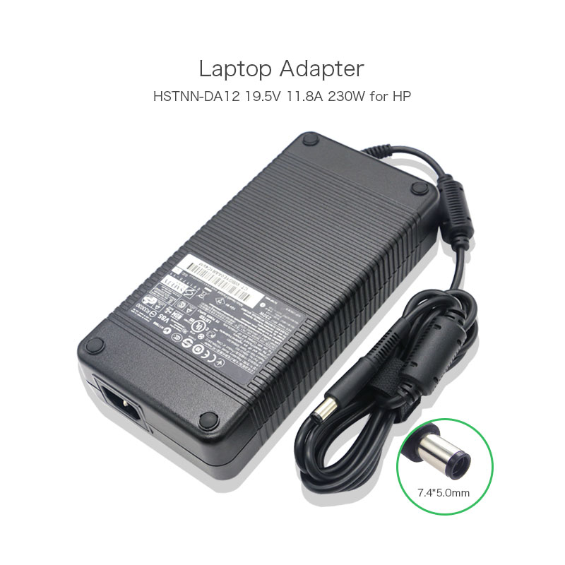 ФОТО 19.5V 11.8A 230W 7.4*5.0mm Delta AC Adapter for HP Elitebook 8740W 8760W 8770W ADP-230CB B ADP-230EB T HSTNN-LA12 HSTNN-DA12 PC