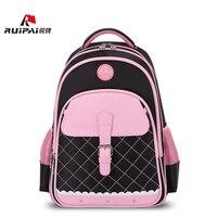 RUIPAI Polyester Kids School Backpack Schoolbags Shoulder Bags For Primary School Girl Pink Bags Orthopedic Backpack