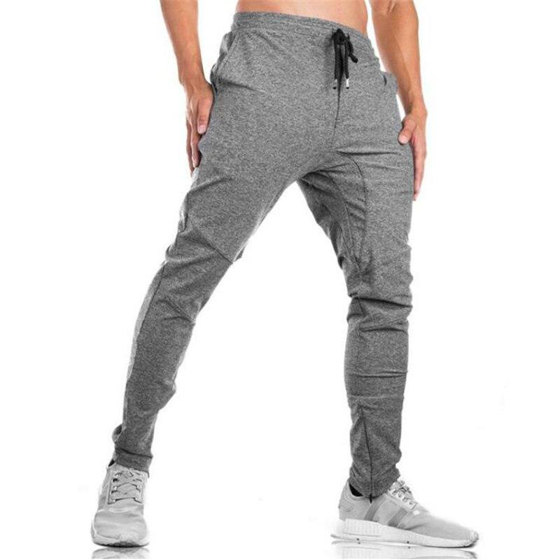 New 2018 Autumn Mens Gyms Pants Fashion Men Sweatpants Fitness Slim Fit Mens Joggers Bodybuilding Sweat Pants Size 3XL
